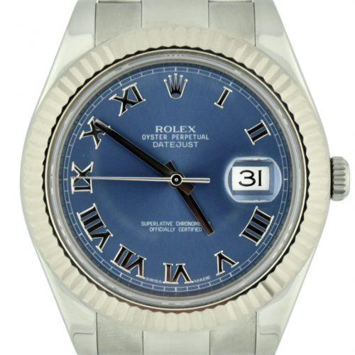rolex datejust II 41mm blue dial