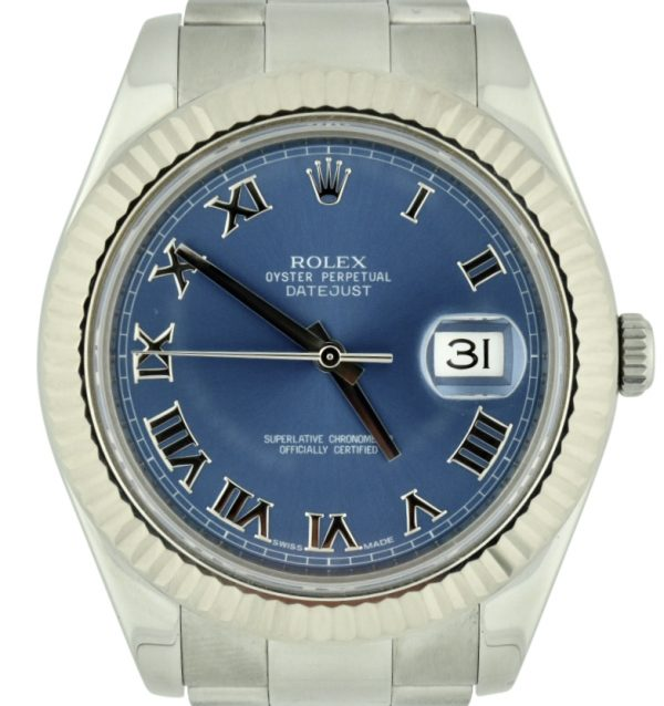 rolex datejust II 41mm blue dial