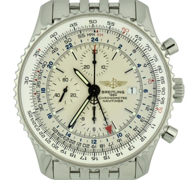 breitling navitimer world a24322 stainless steel 46mm