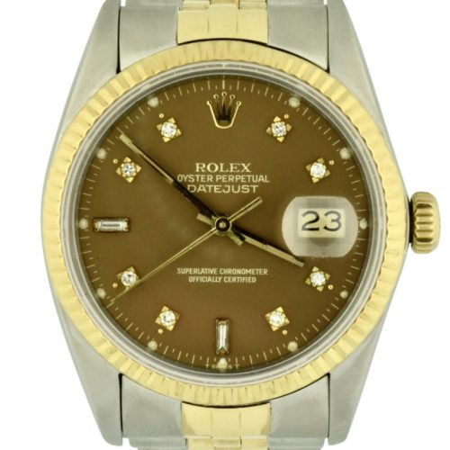 Rolex datejust 16013 chocolate diamond dial