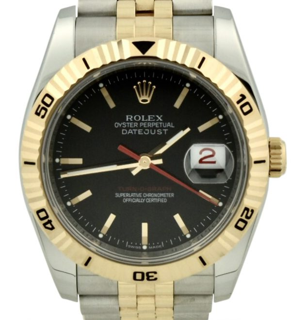 Rolex datejust turn-o-graph 116261 for sale black