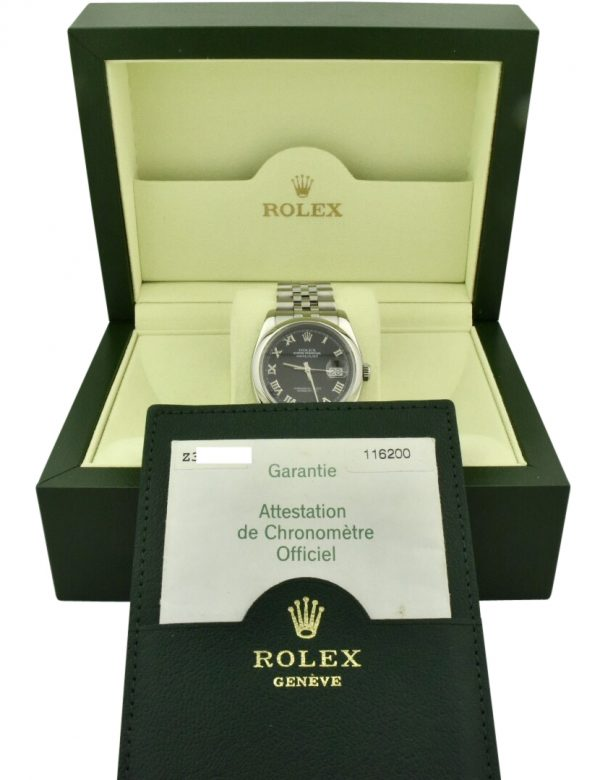 rolex datejust 116200 black dial for sale
