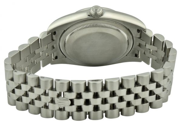 rolex datejust case back steel