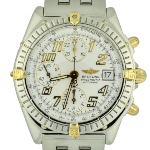 Breitling chronomat b13350 steel & gold for sale