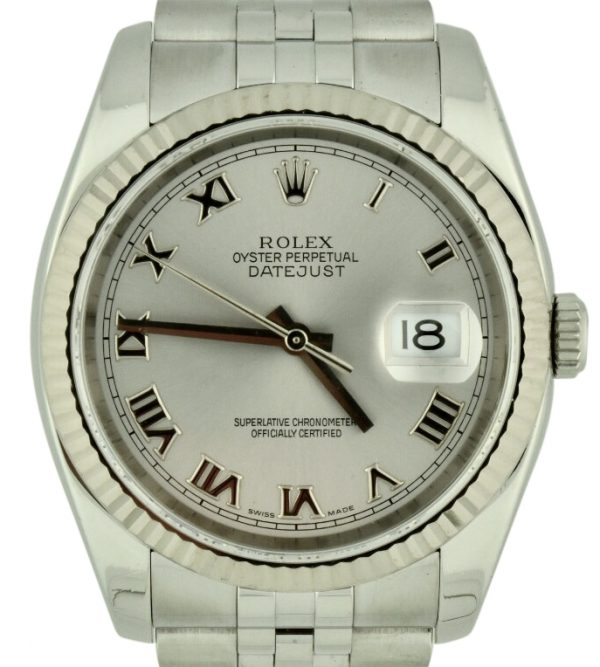 Rolex datejust 116234 rhodium dial