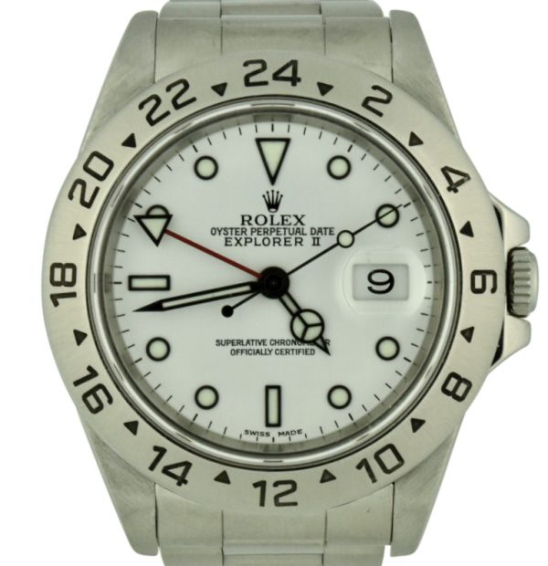 1995 Rolex Explorer II 16570 White Dial Watch
