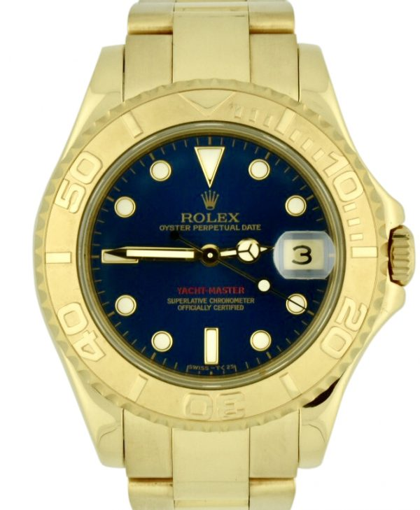 Rolex yachtmaster midsize 18k gold 68628