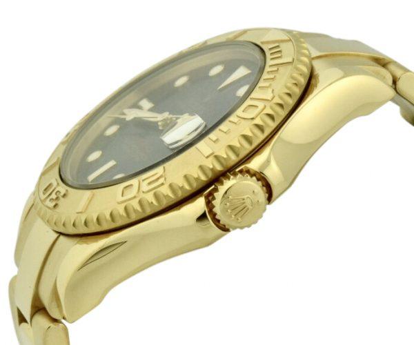 rolex yachtmaster 18k gold bezel