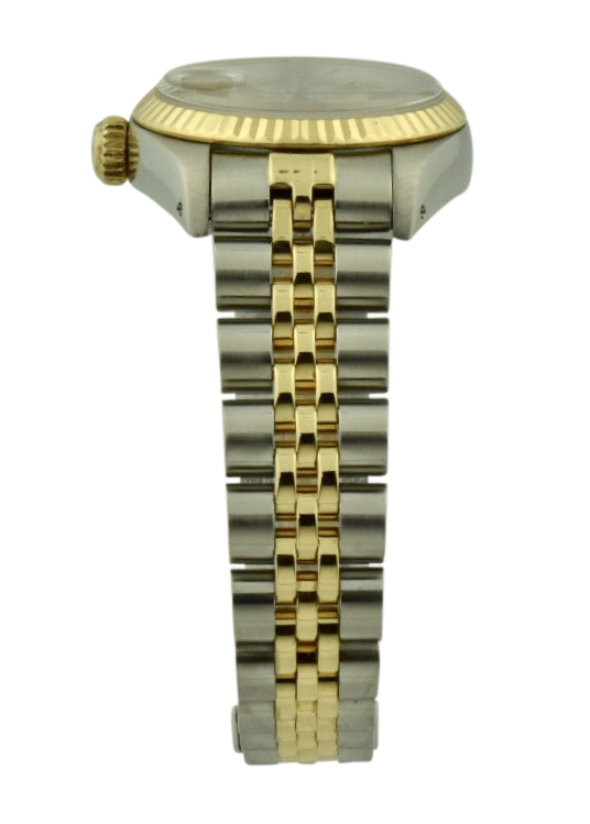 ladies rolex steel and gold band