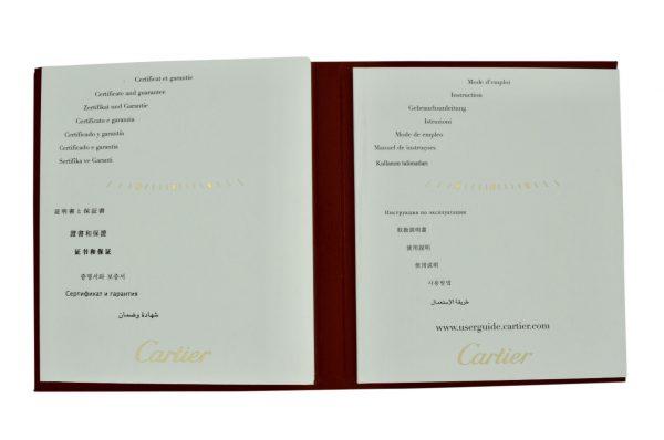 cartier roadster certificate