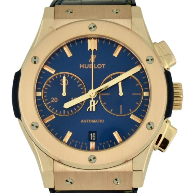 Hublot Classic fusion blue chronograph king gold