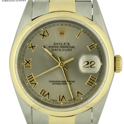 Rolex datejust 16203 grey dial
