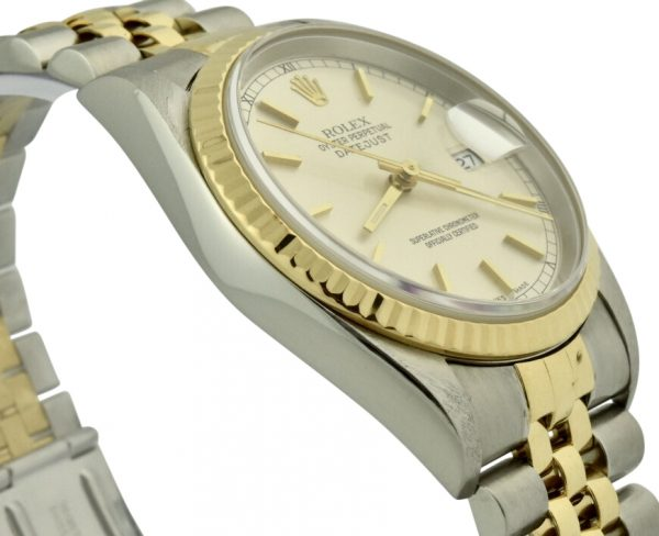 rolex 16233 silver dial