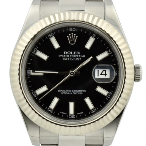 Rolex datejust 41mm 116334 black dial for sale