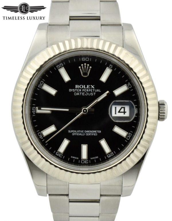 Rolex datejust 41mm 116334 black dial for sale