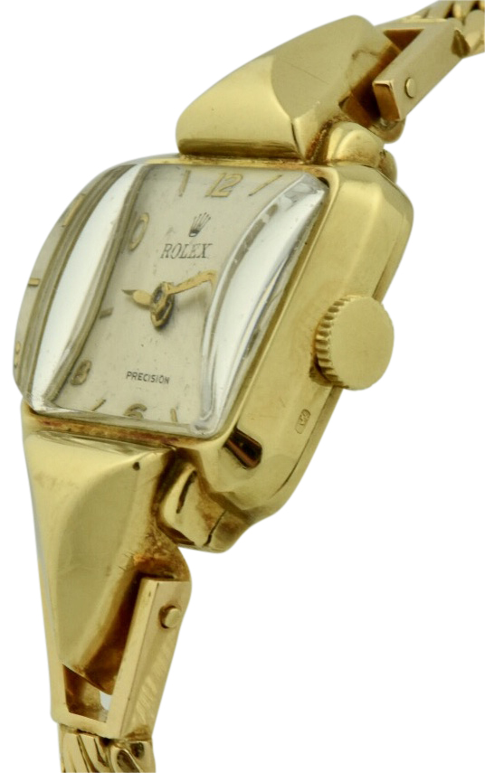 vintage ladies rolex gold watch
