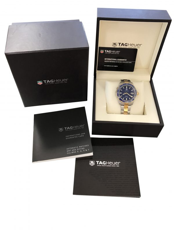 tag heuer aquaracer blue dial wak2120 for sale