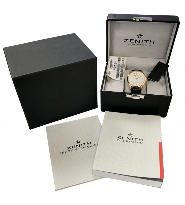 Zenith Port Royal 18.5000.2572pc 38mm 18k Rose Gold Silver Dial