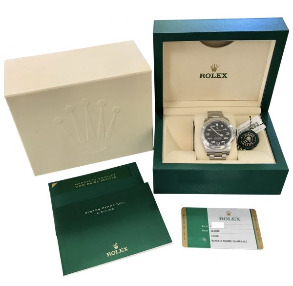 rolex air king 116900 black dial watch for sale