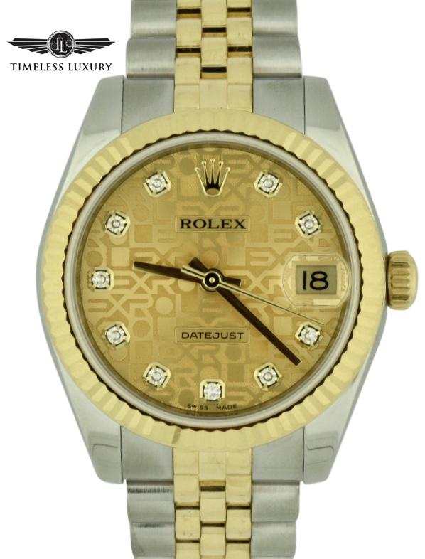 Rolex Datejust midsize 31mm diamond dial 2015