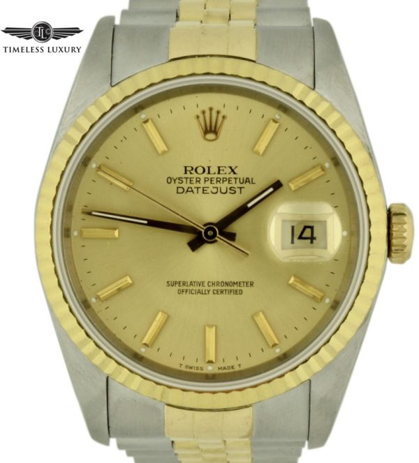 1989 Rolex Datejust 16233 steel & gold watch