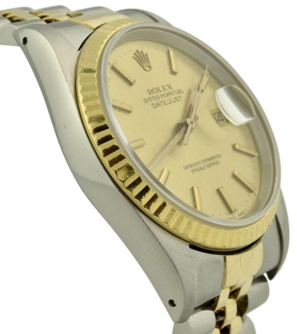rolex datejust gold fluted bezel