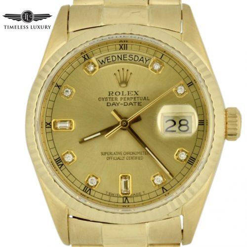 1986 Rolex Day Date president 18038 diamond dial