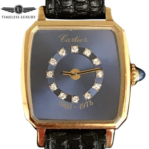 ladies Cartier 18k gold 75th anniversary watch ford