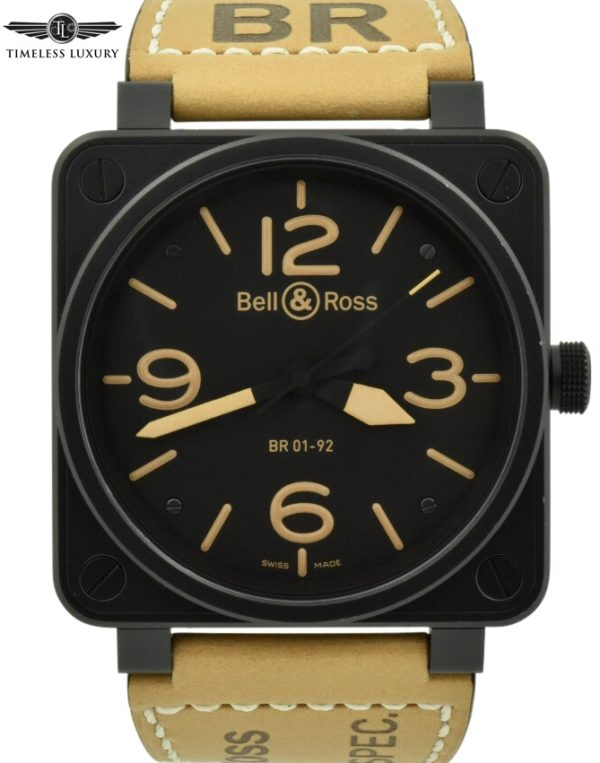 Bell & Ross BR01-92 heritage Black PVD Watch