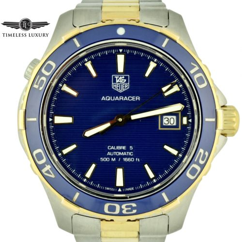 Tag heuer aquaracer wak2120 blue dial watch