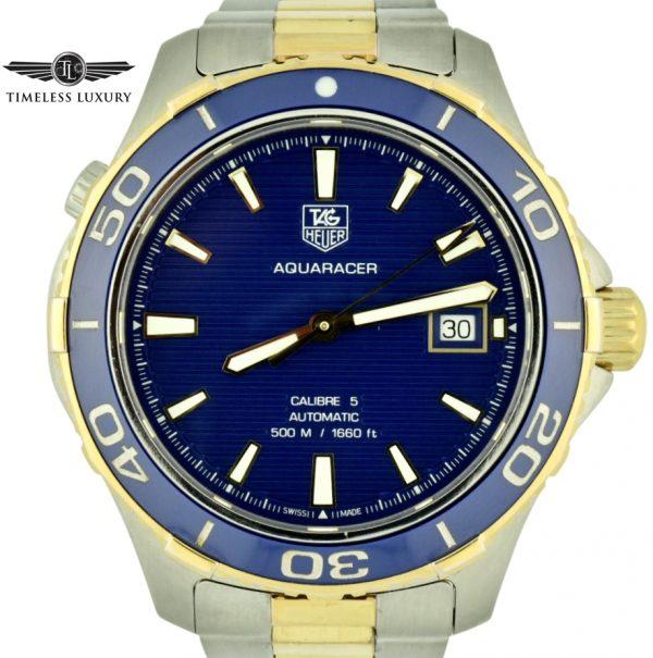 Tag heuer aquaracer wak2120 blue dial watch