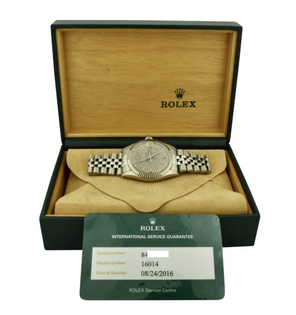 Rolex datejust 16014 gray dial watch for sale