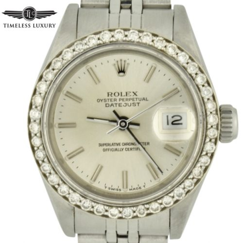Ladies Rolex datejust 69174 diamond bezel