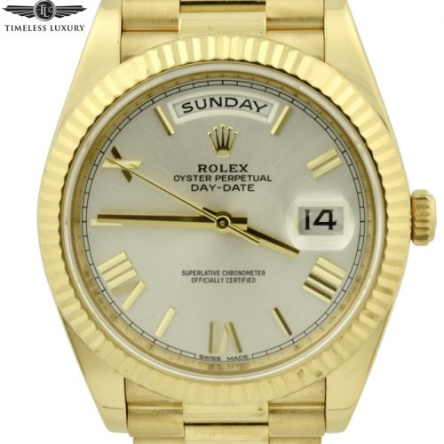 Rolex Day Date 40mm 228238 silver dial for sale