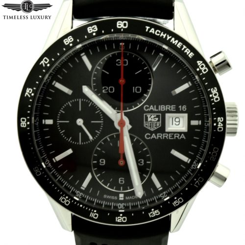 Tag Heder carrera calibre 16 cv201ak black dial watch