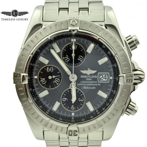 Breitling Chronomat evolution a13356 gray dial watch