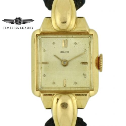 ladies Rolex gold cocktail watch 4211