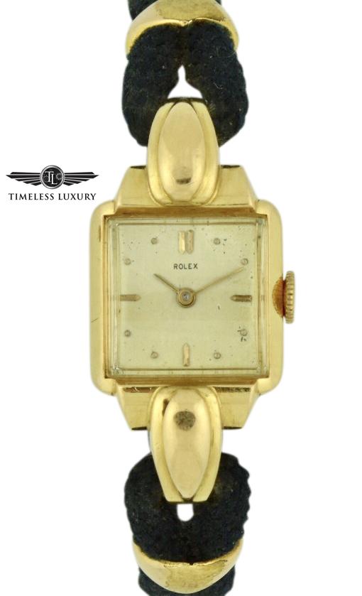 ladies Rolex gold cocktail watch 4211