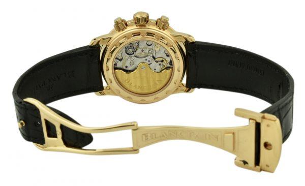 blancpain leman chronograph 2185 rose gold deployment clasp