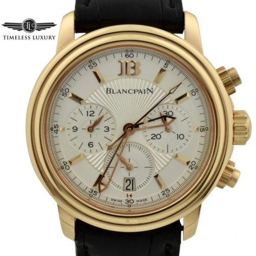 Blancpain Leman chronograph 2185 Silver dial