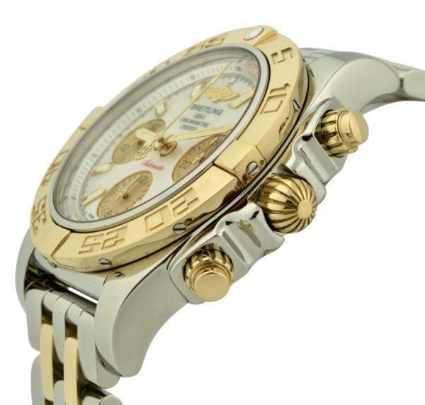 breitling Chronomat rose gold crown