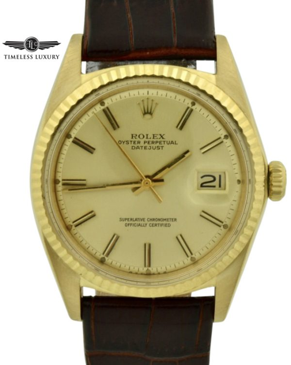 1968 rolex datejust 1601 gold