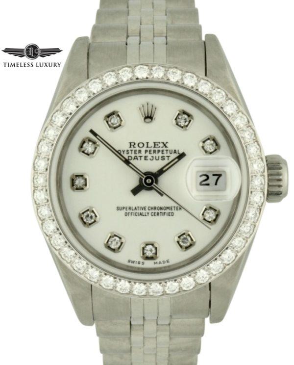 1991 Ladies Rolex datejust 69174 diamond dial