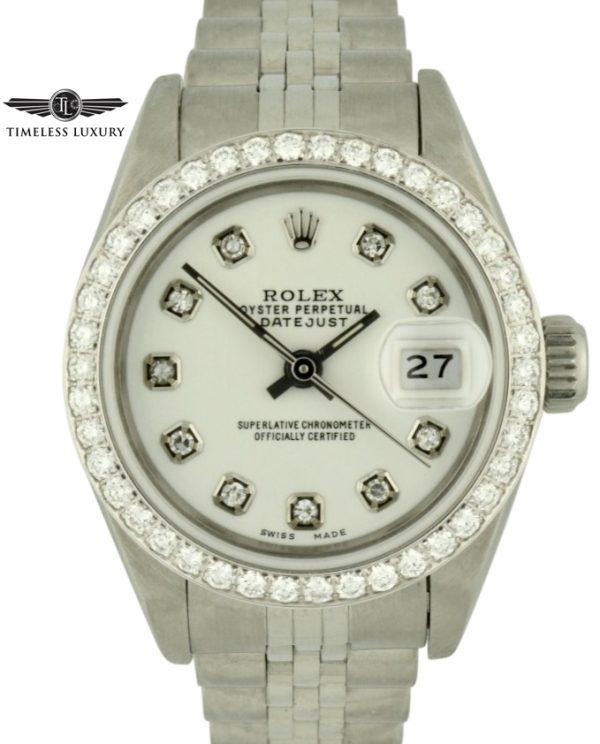 1991 Ladies Rolex datejust 69174 diamond dial