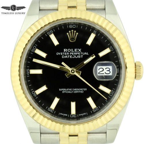 Rolex datejust 41 black dial 126333