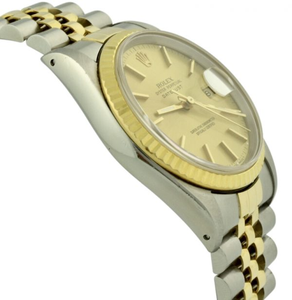 rolex datejust champagne dial