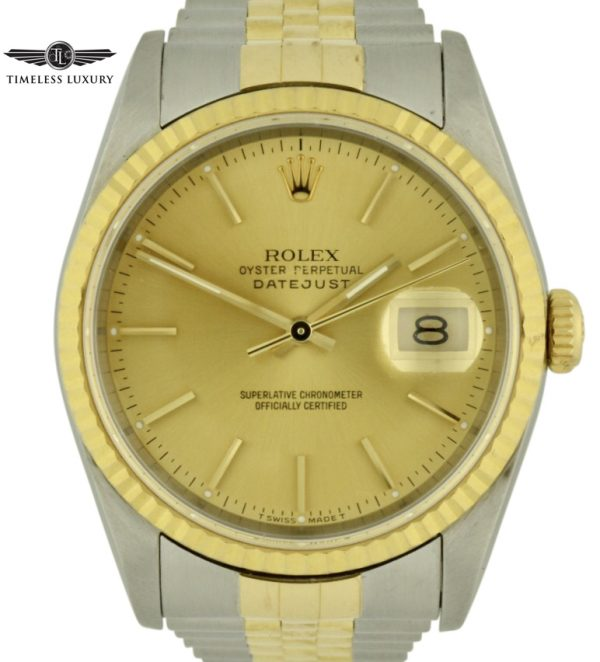 1991 Rolex datejust 16233 champagne dial