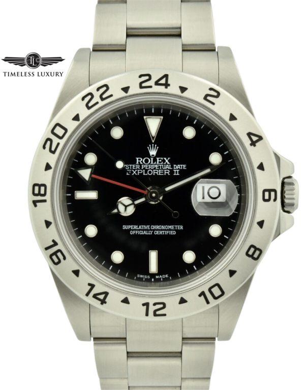 2001 rolex explorer II 16570 black dial