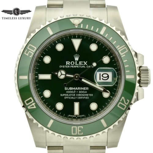 2019 Rolex submariner hulk 116610lv green bezel