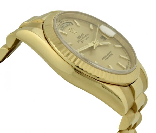 rolex day date 118238 champagne dial